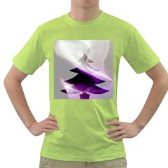 Purple Christmas Tree Green T Shirt by yoursparklingshop