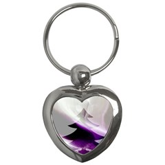 Purple Christmas Tree Key Chains (heart)  by yoursparklingshop