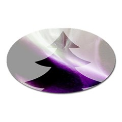 Purple Christmas Tree Oval Magnet by yoursparklingshop