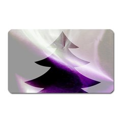 Purple Christmas Tree Magnet (rectangular) by yoursparklingshop