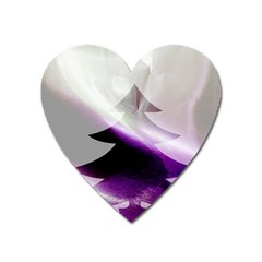 Purple Christmas Tree Heart Magnet by yoursparklingshop