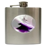 Purple Christmas Tree Hip Flask (6 oz) Front