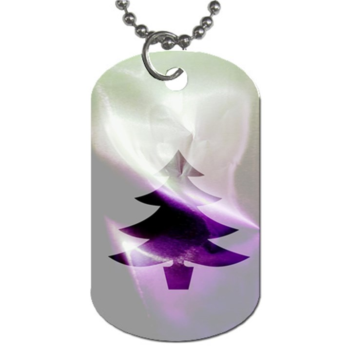 Purple Christmas Tree Dog Tag (Two Sides)