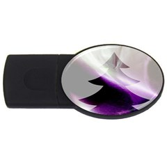 Purple Christmas Tree Usb Flash Drive Oval (2 Gb)  by yoursparklingshop