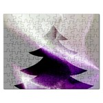 Purple Christmas Tree Rectangular Jigsaw Puzzl Front
