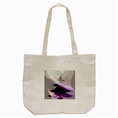 Purple Christmas Tree Tote Bag (cream) by yoursparklingshop