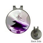 Purple Christmas Tree Hat Clips with Golf Markers Front