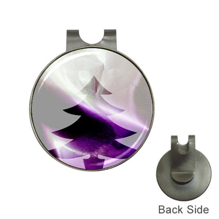 Purple Christmas Tree Hat Clips with Golf Markers