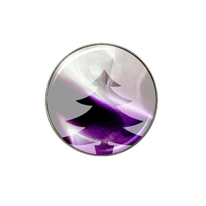 Purple Christmas Tree Hat Clip Ball Marker