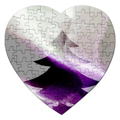 Purple Christmas Tree Jigsaw Puzzle (heart) by yoursparklingshop