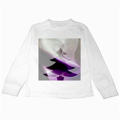 Purple Christmas Tree Kids Long Sleeve T Shirts by yoursparklingshop