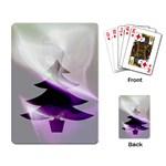Purple Christmas Tree Playing Card