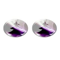 Purple Christmas Tree Cufflinks (oval)