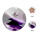 Purple Christmas Tree Playing Cards (Round)  Front