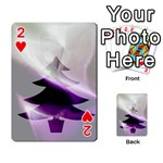 Purple Christmas Tree Playing Cards 54 Designs  Front - Heart2