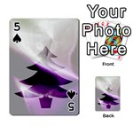 Purple Christmas Tree Playing Cards 54 Designs  Front - Spade5