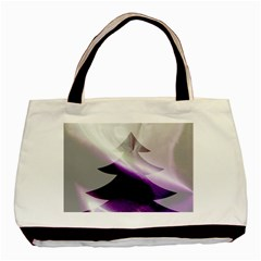 Purple Christmas Tree Basic Tote Bag by yoursparklingshop