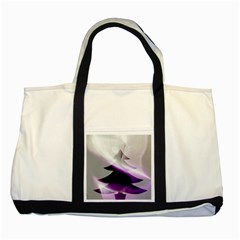 Purple Christmas Tree Two Tone Tote Bag