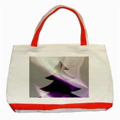 Purple Christmas Tree Classic Tote Bag (red) by yoursparklingshop