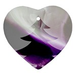 Purple Christmas Tree Heart Ornament (2 Sides) Back