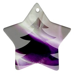 Purple Christmas Tree Star Ornament (two Sides)  by yoursparklingshop