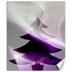 Purple Christmas Tree Canvas 8  X 10  by yoursparklingshop