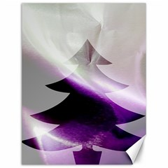 Purple Christmas Tree Canvas 12  X 16   by yoursparklingshop