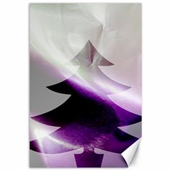 Purple Christmas Tree Canvas 12  X 18   by yoursparklingshop