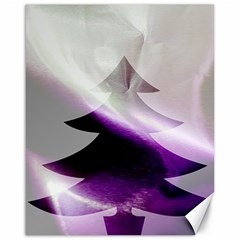 Purple Christmas Tree Canvas 16  X 20   by yoursparklingshop