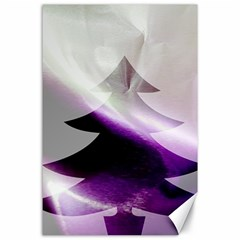 Purple Christmas Tree Canvas 24  X 36  by yoursparklingshop