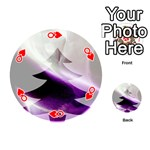 Purple Christmas Tree Playing Cards 54 (Round)  Front - HeartQ