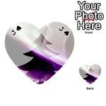 Purple Christmas Tree Playing Cards 54 (Heart)  Front - SpadeJ