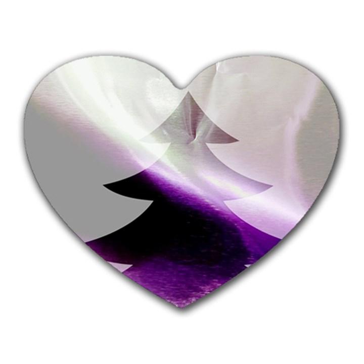 Purple Christmas Tree Heart Mousepads