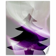 Purple Christmas Tree Canvas 11  X 14   by yoursparklingshop