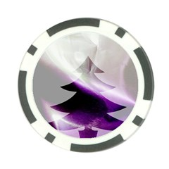Purple Christmas Tree Poker Chip Card Guards by yoursparklingshop