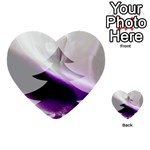 Purple Christmas Tree Multi-purpose Cards (Heart)  Back 54