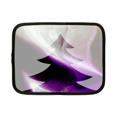 Purple Christmas Tree Netbook Case (small)  by yoursparklingshop