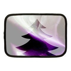 Purple Christmas Tree Netbook Case (medium)  by yoursparklingshop
