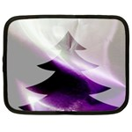 Purple Christmas Tree Netbook Case (Large) Front
