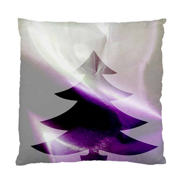 Purple Christmas Tree Standard Cushion Case (One Side)