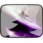 Purple Christmas Tree Fleece Blanket (Mini) 35 x27 Blanket