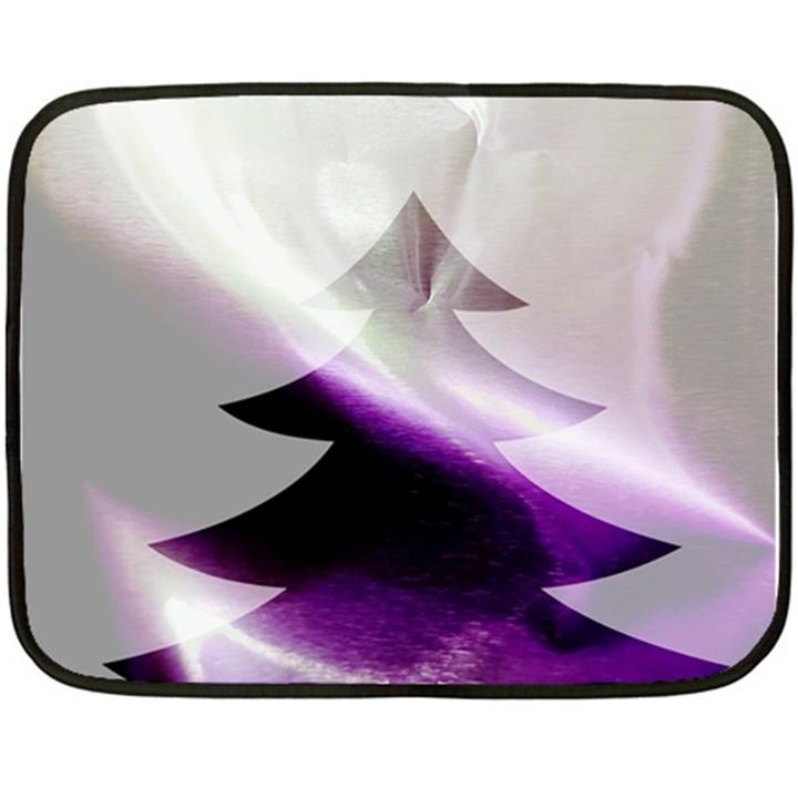 Purple Christmas Tree Fleece Blanket (Mini)