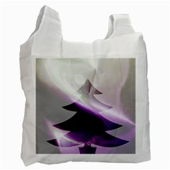 Purple Christmas Tree Recycle Bag (two Side)  by yoursparklingshop