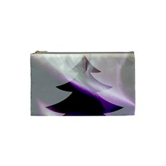 Purple Christmas Tree Cosmetic Bag (small)  by yoursparklingshop