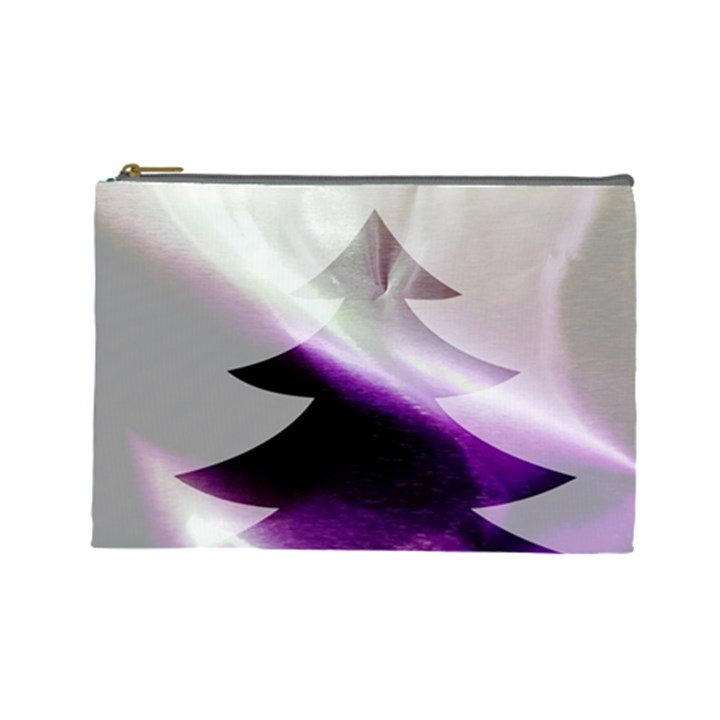 Purple Christmas Tree Cosmetic Bag (Large)