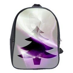 Purple Christmas Tree School Bags(large)  by yoursparklingshop