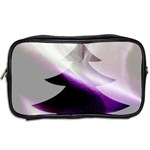 Purple Christmas Tree Toiletries Bags 2-Side Back