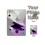 Purple Christmas Tree Playing Cards 54 (Mini)  Front - Spade7
