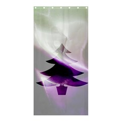 Purple Christmas Tree Shower Curtain 36  X 72  (stall)  by yoursparklingshop
