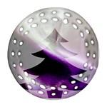 Purple Christmas Tree Ornament (Round Filigree)